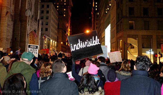 Womens March NYC signs Jane Feldman photographer Robin Catalano website copywriter