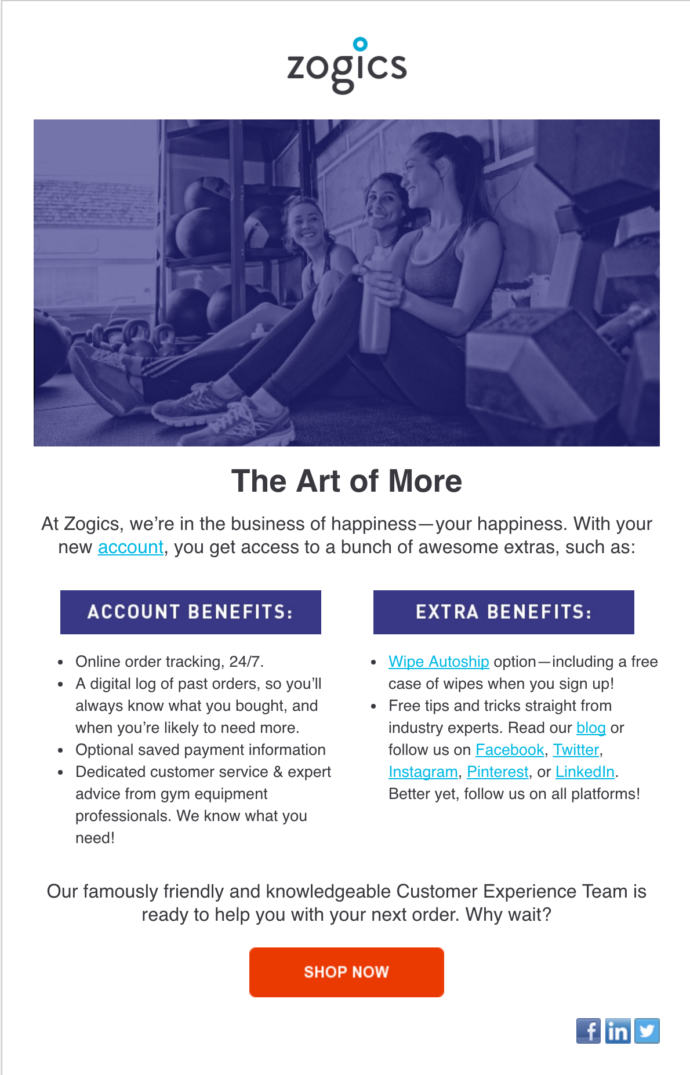 Robin Catalano email copywriter onboarding email- Additional Benefits