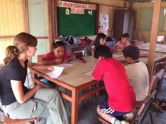 Classroom teaching in Peru Unearth the World